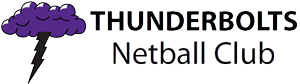 Thunderbolts Netball Club Logo
