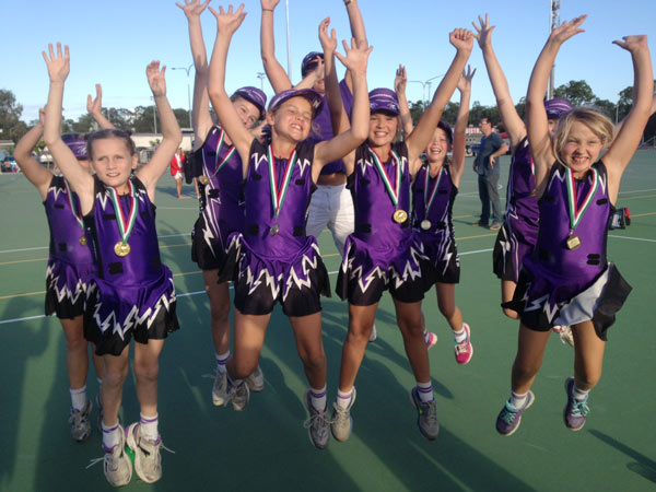 Thunderbolts Netball Club Celebrating Victory